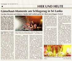 Schulmanager Ralf Gottlieb live in Sri Lanka